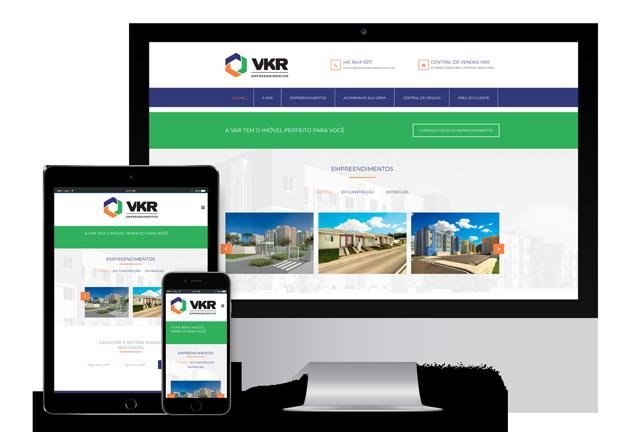 WebSite VKR Empreendimentos